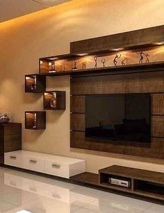 Tv wall decor, tv wall design и interior design kitchen. Tv Unit Furniture Design, Tv Unit Interior Design, Tv Wall Design, Bedroom Furniture Design, Design Case, Lcd Unit Design, Stand Design, Ceiling Design, Bedroom Interior Design