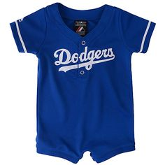Los Angeles Dodgers Infant Romper Jersey by Majestic Athletic - MLB.com Shop