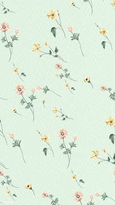 Download premium vector of Blooming flower seamless pattern on a green background vector by Aew about Flower Vector seamless pattern, mint seamless pattern, mint wallpaper phone, anemone, and backdrop 2273244
