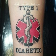 Diabetes tattoo done by me! email kawaiitattoo@gmail.com for consult and appointment