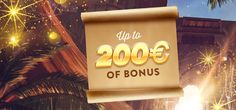 200€/$ Welcome Package  After wandering in the desert before you join our oasis, we welcome you with a special refreshment: we offer you 200€ bonus on your 2 first deposits, as follow:      1st deposit: 50% up to 100€     2nd deposit: 25% up to 100€