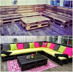 Pallet outdoor couch