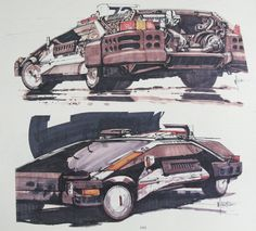 Blade Runner Spinner Concept Art - Syd Mead