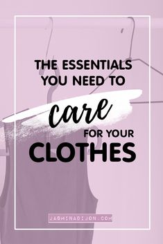 the essentials you need to make your clothes last longer Slow Fashion, Ethical Fashion, The Essential, How To Look Better, How To Make, Talk To Me, Clothing Items, Sustainable Fashion, Essentials