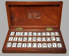 Educational Ivory Alphabet Ivory Tiles