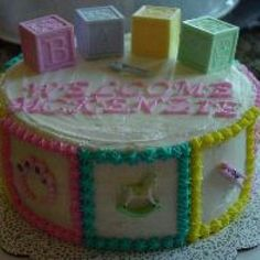 Welcome Baby, Baby Block Cake