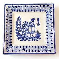 Emilia Ceramics Rooster Square Plate