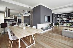 Apartament w Krakowie - salon z jadalnią : Skandynawska jadalnia od AvoCADo