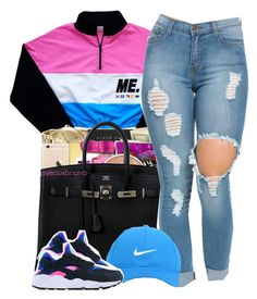 """""""Can't Trust Em // Zonnique"""" by yeauxbriana on Polyvore featuring Hermès, Nike Golf, women's clothing, women's fashion, women, female, woman, misses and juniors"""