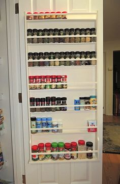 Spice Rack for the inside of Pantry Door. My daddy made it for my mommy =D how cute XP