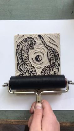 i make linocut prints and sell them on etsy! check out my shop 🌞 Lino Art, Pottery Painting Designs, Easy Canvas Art, Handmade Stamps, Fabric Stamping, Linoprint, Acrylic Artwork, Tampons, Linocut Prints