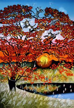 紅葉と猫のシンフォニー Seiji Fujishiro