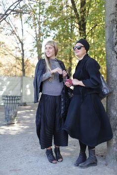 Paris Fashion Week street style.