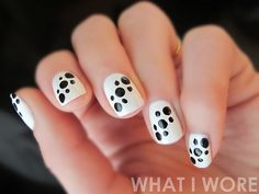 What I Wore Nail Art: Dalmation via whatiwore.tumblr.com by What I Wore, via Flickr
