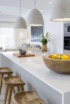 45 Ideas Kitchen Big Modern Stools For 2019 Kitchen Dinning, Home Decor Kitchen, New Kitchen, Home Kitchens, Interior Desing, Interior Design Living Room, Interior Livingroom, Kitchen Layout, Kitchen Design