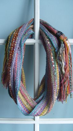 Handwoven Scarf Rainbow Mist by barefootweaver on Etsy, $84.00