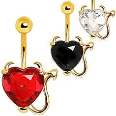 Another New Product: Gold Devil Heart ... Check it out here! http://fashionhutjewelry.com/products/gold-devil-heart-navel-ring?utm_campaign=social_autopilot&utm_source=pin&utm_medium=pin