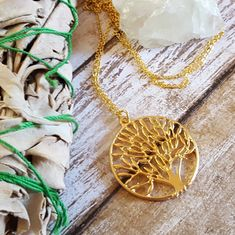 This long Tree of Life Necklace is available in Silver or Gold. It is made from high quality, tarnish resistant gold or rhodium plated plated brass. * Necklace Length: 29 * Pendant Dimension: 35 x 40mm * Lobster Claw Clasp * High Quality Gold or Rhodium (platinum family) over brass * Tarnish Resistant * Lead & Nickel Free   To view other items in my shop, please click here: http://www.etsy.com/shop/CorinnaMaggyDesigns