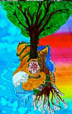 ☮ American Hippie Art ~ Tree of Life .. Music is the root of my soul....