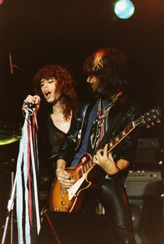 Steven Tyler With Joe Perry  Category: Reading Festival, Reading, UK - Aerosmith Express Tour 1977