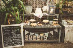 #dessert  Photography: Paper Antler Photography - paperantler.com Coordination + Floral Design: Terrain at Styer's - shopterrain.com  Read More: http://www.stylemepretty.com/2013/02/01/philadelphia-vintage-wedding-from-paper-antler-photography/