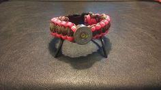 Pink Camo and Pink Shotgun Shell Paracord Bracelet by PaceParacord