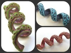 TENTACLE Dread Bead Dreadlock Accessories di SouthpawPolymer
