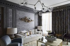 Contemporary Curtains Living Room Drapes Cheap Inspiring Curtain cheap decorating ideas for living room - Living Room Decoration Living Room Drapes, Living Room Grey, Living Room Decor, Living Rooms, Living Spaces, Contemporary Curtains, Contemporary Homes, Rideaux Design, Interior Design Trends