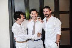 My groom and his brothers. Such a great shot