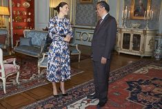 Crown Princess Victoria received Dr. Tedros Adhanom at the Royal Palace