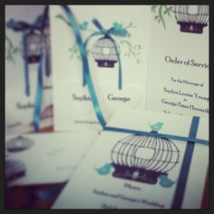 Birdcage Wedding Stationery - perfectly adapted to your colour scheme www.theteacupworkshop.com