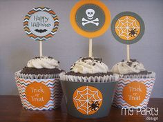 Halloween Party (chevron) - Printable Party Pack