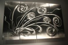 Wilmos Kovacs Original Metal Wall Sculpture Abstract Home Decor Painting W476 | eBay