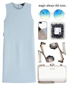 """""""summer blue outfit"""" by nicholas-the-third ❤ liked on Polyvore featuring Theory, Miu Miu, Giuseppe Zanotti and BlissfulCASE"""