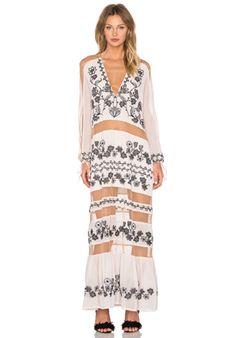 For Love & Lemons x REVOLVE Violetta Dress in Nude Ivory | REVOLVE