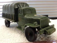 VTG 1960s Auburn Rubber Co. USA Toy 2 1/2 ton Army Truck Military Display Piece #AUBURNRUBBERCO #DodgePowerwagontype