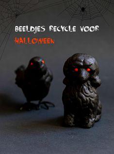 #Beeldjes  #recycle voor  #Halloween  #Diy Diy Halloween Decorations, Diy Halloween Costumes, Halloween Crafts, Halloween Party, Halloween Ideas, Recycled Decor, Diy Beauty Projects, Birthday Calendar, Halloween Jack