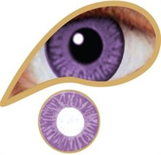 Add a different kind of colour clock with these MesmerEyez Lavender Coloured Contact Lenses, yours for just £14.99 at iKrush