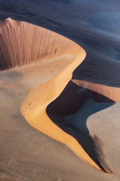 Sculpted by the wind - An aerial view of a dunescape in the Namib desert - the oldest desert on Earth Namib Desert, Free In, Aerial View, Fresh Water, Sculpting, Old Things, Earth, River, Landscapes