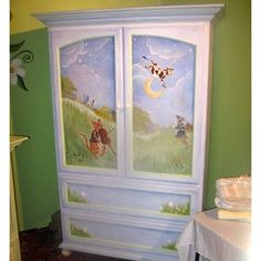 painting an old entertainment center