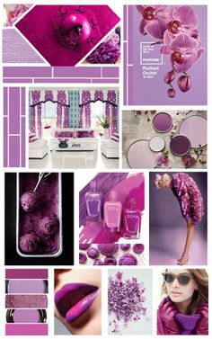 www.limonadacerezada.com Collage of radiant orchid. #collage #radiantorchid #new color