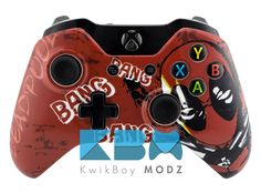 Deadpool Xbox One Controller Custom Xbox One Controller, Xbox Controller, Xbox One S, Xbox One Games, Wii, Video Game News, Video Games, Sims 4 City Living, Videogames
