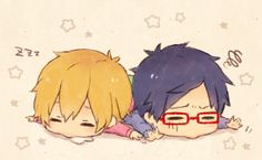 """This is from the anime """"Free!"""" The boys in the picture is Nagisa Hazuki and Rei Ryugazaki."""