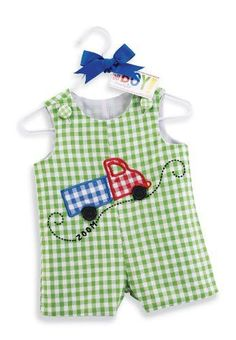 Mud Pie Go Adorable Baby Boy Truck Shortall 12 Green and White Little Boy Outfits, Little Girl Dresses, Baby Boy Outfits, Kids Outfits, Baby Boy Toys, Baby Boy Dress, Sewing For Kids, Baby Wearing, Kids Wear