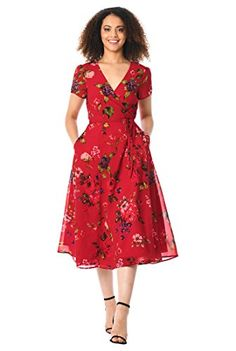 7d3177605be2 Hell Bunny 1950s Mint Floral Cap Sleeve Suzannah Chiffon Swing Dress ...