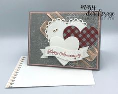 Stampin' Up! Always in My Lots of Heart Anniversary Card   Stamps – n - Lingers Happy Anniversary, Anniversary Cards, Specialty Paper, Card Sketches, Thank You Gifts, Creative Cards, Free Gifts, Wedding Cards