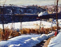 Winter Afternoon, Riverside Park, New York City, 1909 - George Wesley Bellows  (American, 1882-1925)