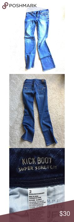 """American Eagle Jeans American Eagle """"Kick Boot"""" Jeans. Regular length. Stretch Fit. American Eagle Outfitters Jeans Boot Cut"""