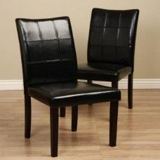 Eveleen Black Dining Chair (Set of 2)