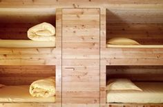 cool built-in bunks in a ski cabin in Switzerland (not for the claustrophobic)